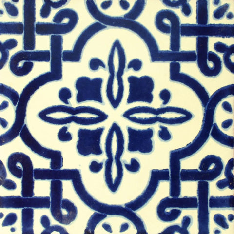 Traditional Mexican Tile - Palenque, Azul Cobalto