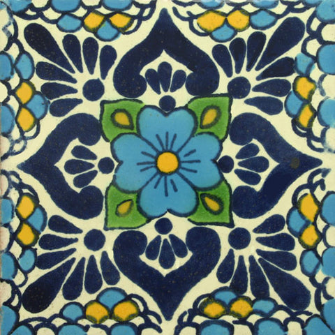 Traditional Mexican Tile Lluvia Turquesa
