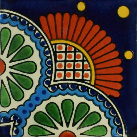 Traditional Mexican Border Tile - Babilonia, Corner