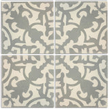 4 tile array Toluca design cement tile