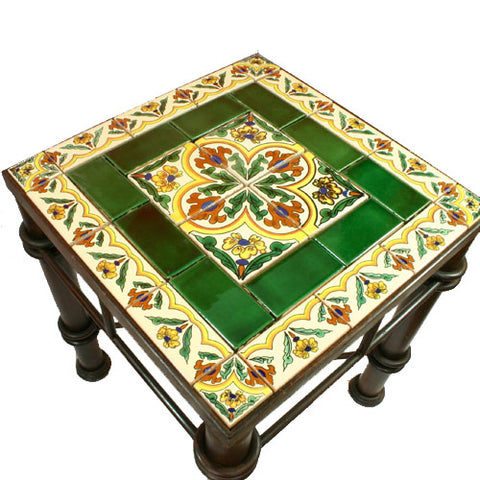 Mexican Tile Wrought Iron Table Primavera