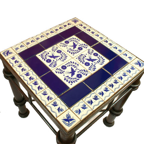 Mexican Tile Wrought Iron Table Paloma