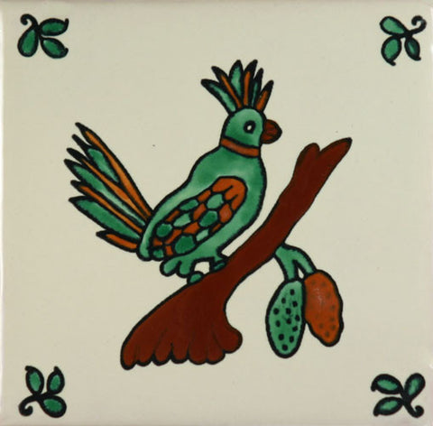 Especial Decorative Ceramic Spanish Tile - Quetzal bird