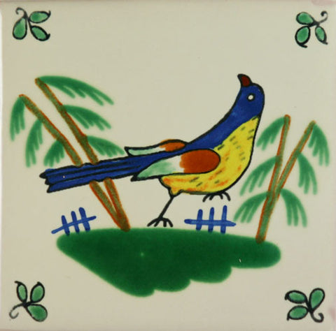 Especial Decorative Ceramic Mexican Tile - bird