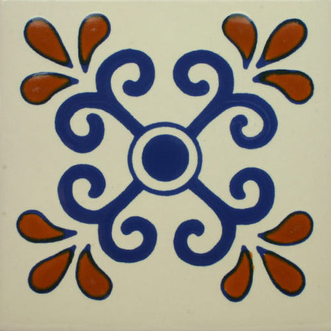 Premium ceramic Mexican Decorative Tile- Zacatecas