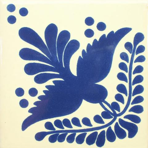Blue bird ceramic Mexican Tile