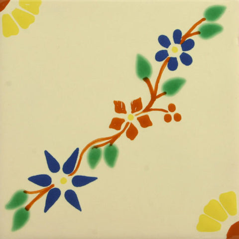 Espcecial ceramic Mexican decorative tile - flower bouquet