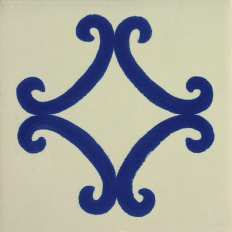 Especial ceramic Mexican decorative tile-- Arco Azul