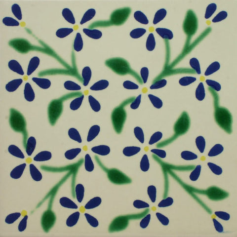 Premium ceramic Mexican Decorative tile - violets