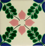 Especial ceramic Spanish decorative tile - flower