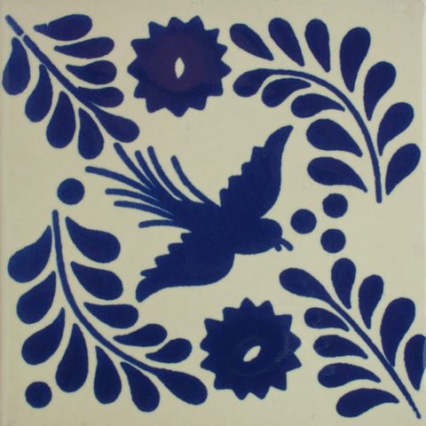 Espcecial ceramic Mexican decorative tile - blue bird