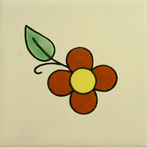 Espcecial ceramic Mexican decorative tile - sunflower
