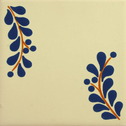 Especial ceramic Mexican decorative tile leaves
