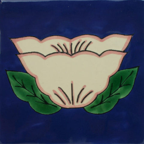 Ceramic Mexican floral tile