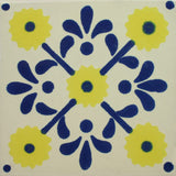 Especial ceramic Decorative Mexican Tile - Daisy