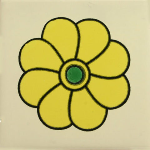 Especial ceramic Decorative Spanish Tile yellow flower