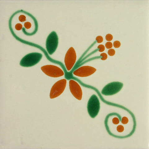 Especial ceramic Decorative Mexican Tile - Brezo