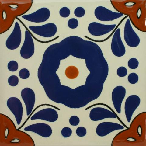Traditional pattern Mexican-style pool tile