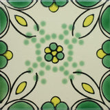 Espcecial ceramic Mexican decorative tile - honey suckle