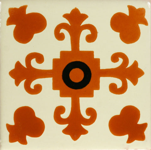 Especial Ceramic Decorative Mexican Tile - Valencia Terra Cota