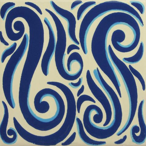 Especial ceramic Decorative Mexican Tile blue and white