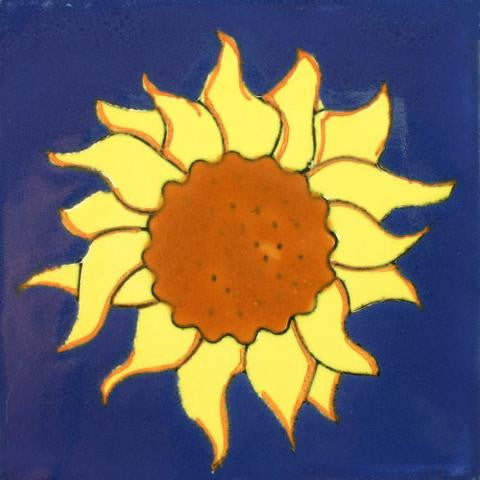 Sunflower pool tile