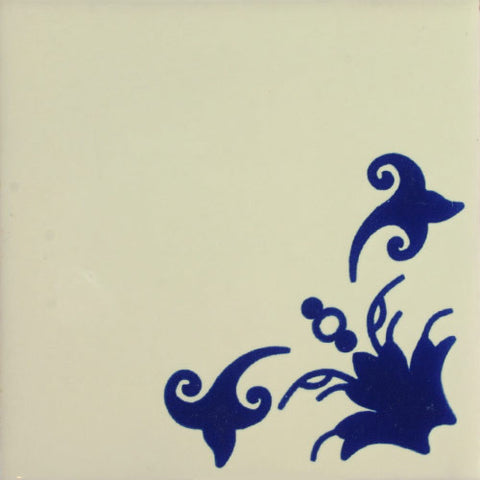 Especial ceramic Decorative Spanish Tile Boton Azul
