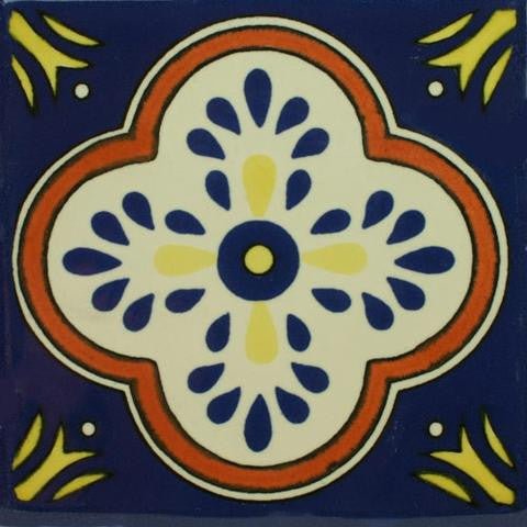 Decorative Mexican-style pool tile