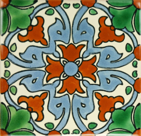 Especial ceramic Mexican decorative tile - Energia