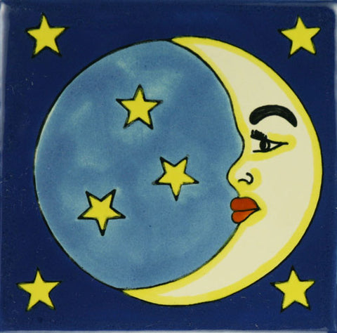Especial Ceramic Mexican Decorative Tile - Moon