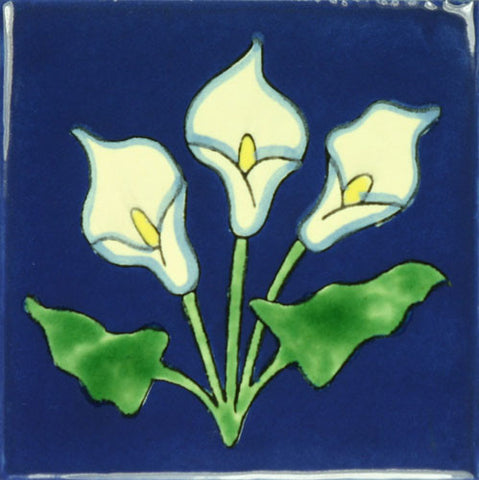 Especial Decorative Mexican Tile - Calla lillies