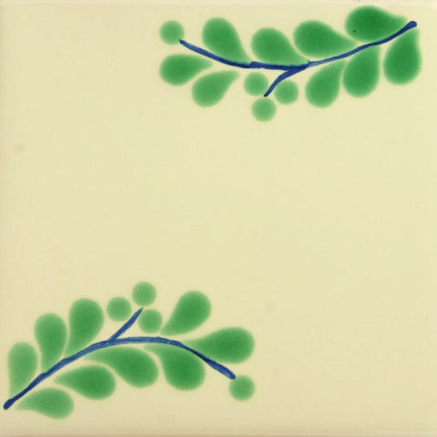 Espcecial ceramic Mexican decorative tile leaves