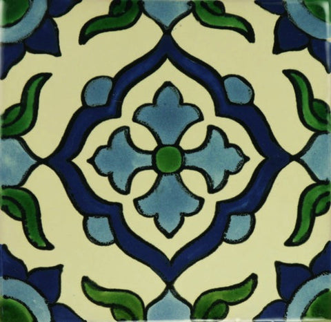Ceramic decorative Mexican pool tile