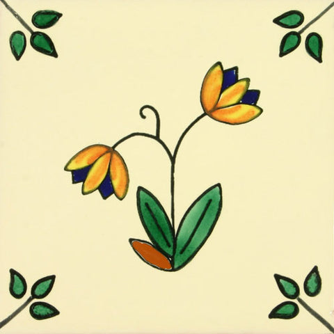 Espcecial ceramic Mexican decorative tile flower