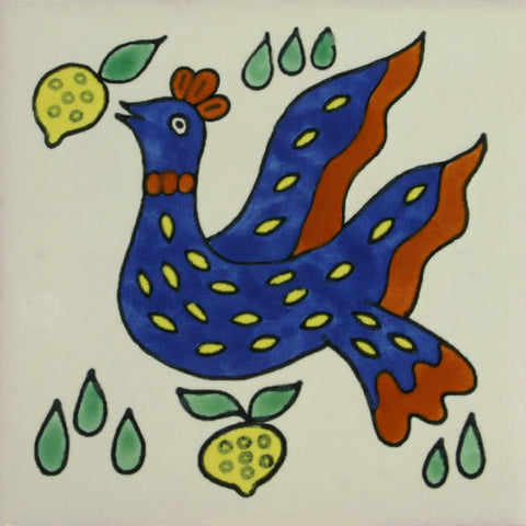 Especial ceramic Decorative Mexican Tile -  bird