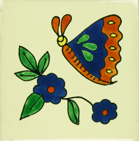 Especial ceramic butterfly Decorative Mexican Tile