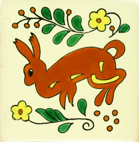 Especial ceramic Decorative Spanish Tile - rabbit