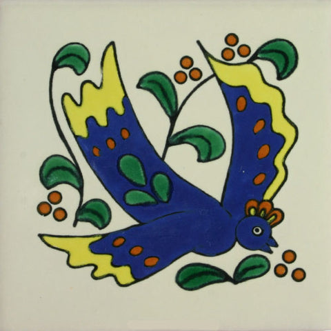 Especial ceramic Decorative Mexican Tile - blue bird