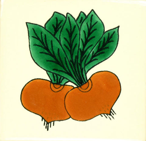 Especial Decorative Ceramic Mexican Tile - Beets