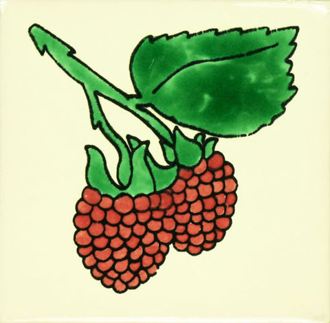 Espcecial ceramic Mexican decorative fruit tile - rasberry