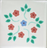 Espcecial ceramic Spanish decorative tile - delicate flowers