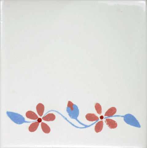 Espcecial ceramic Mexican decorative tile - flowers