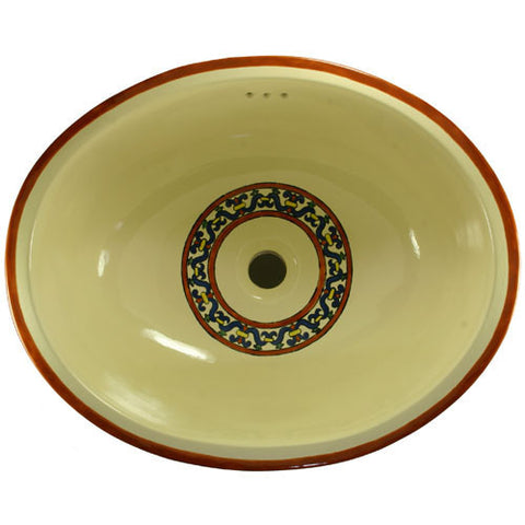 Traditional Mexican Sink-Borde Rojo