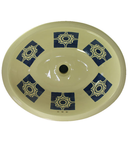 Traditional Mexican Sink-Arabesque Azul