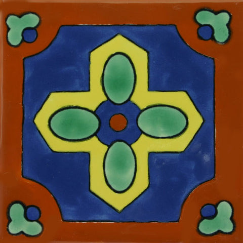 Especial ceramic Decorative Spanish Tile - Southwest cross