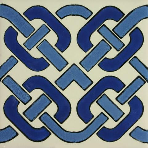Mexican tile blue Celtic