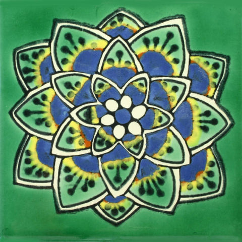 Especial ceramic Decorative Mexican Tile -cola de pavo