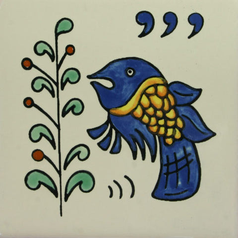 Especial Decorative Ceramic Mexican Tile - fish