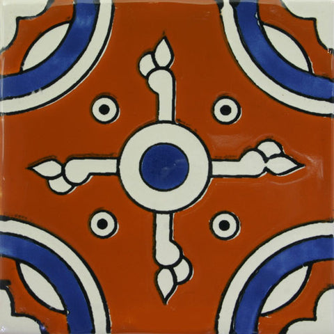Especial ceramic Decorative Mexican Tile- Navajo cross