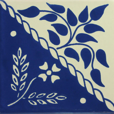 Especial Spanish Decorative Tile - Flores Dividida